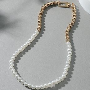 wholesale pearl copper beads necklace Nihaojewelry NHACH395163