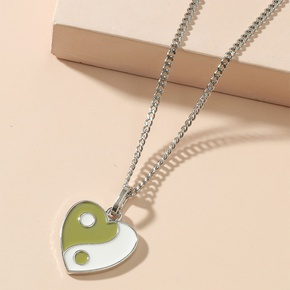 Wholesale Jewelry Tai Chi Heart Pendant Necklace Nihaojewelry NHACH395171