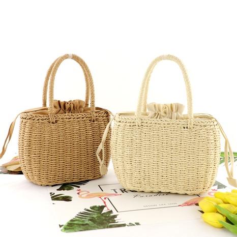 fashion straw woven basket handbag wholesale Nihaojewelry NHXM394718's discount tags