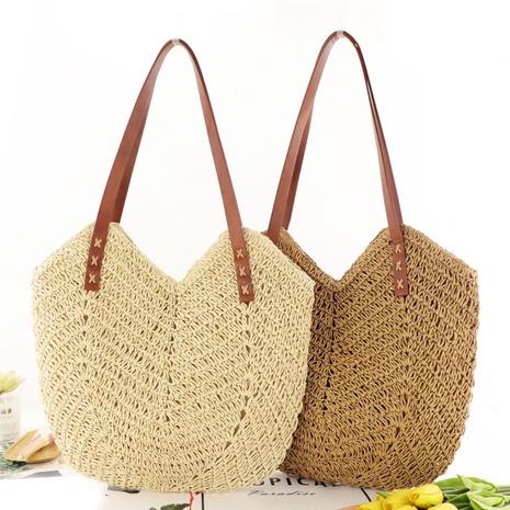fashion geometric hollow straw woven bag wholesale Nihaojewelry NHXM394722's discount tags
