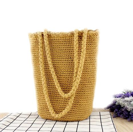 retro hand-tied cotton thread bucket bag wholesale Nihaojewelry NHXM394732's discount tags