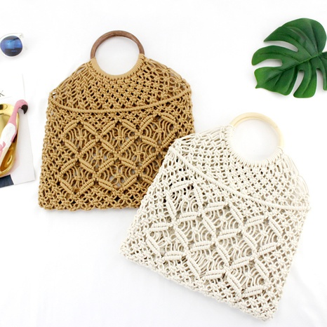 round rattan hollow straw bag wholesale Nihaojewelry NHXM394742's discount tags