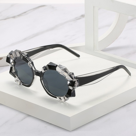 Concave-convex frame diamond transparent sunglasses wholesale Nihaojewelry NHZIH401826's discount tags