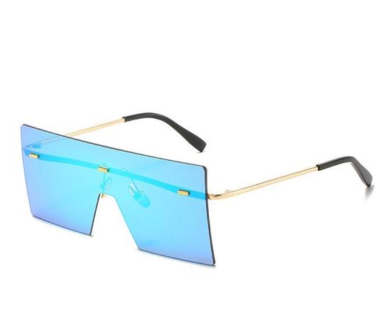 Fashion geometric reflective colorful sunglasses wholesale Nihaojewelry NHZIH401823's discount tags