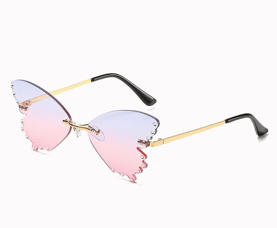 Fashion butterfly shape color sunglasses wholesale Nihaojewelry NHZIH401822's discount tags