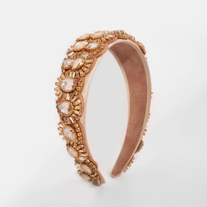 wholesale jewelry fashion diamond-studded broad-brimmed headband Nihaojewelry NHMD379247