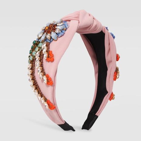 Al por mayor joyas diadema de cristal de tela barroca Nihaojewelry NHMD379248's discount tags