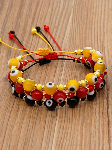 wholesale jewelry hand-woven glass eye beads bracelet Nihaojewelry NHBDB378279's discount tags