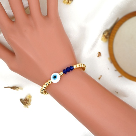 wholesale jewelry gold beads eyes crystal bracelet Nihaojewelry NHBDB378278's discount tags