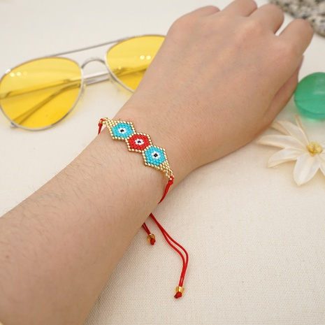 Nihaojewelry ethnic style color matching demon eye braided bracelet Wholesale jewelry NHBDB378288's discount tags