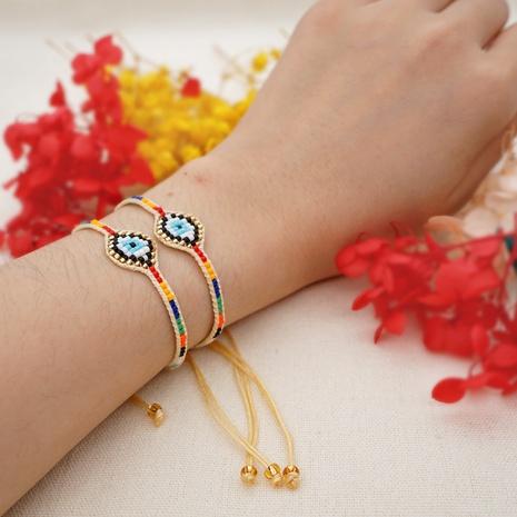 Nihaojewelry Ethnic Style Demon Eyes Beaded Bracelet Wholesale jewelry NHBDB378290's discount tags
