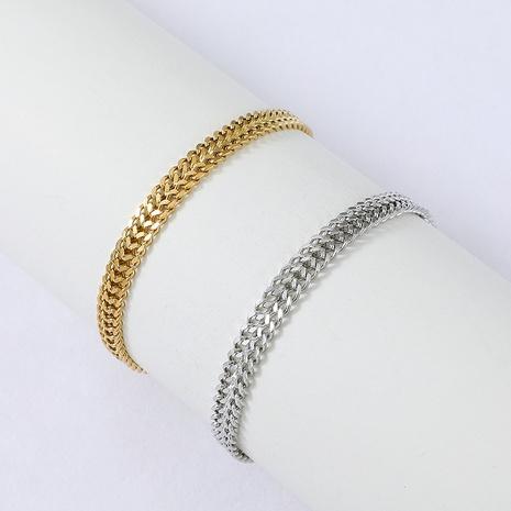 Nihaojewelry style punk chaîne géométrique bracelet en acier inoxydable bijoux en gros NHYUN378314's discount tags