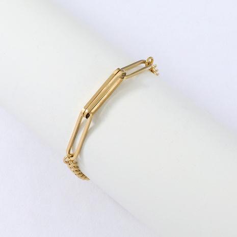 Bracelet chaîne en acier inoxydable simple Nihaojewelry Bijoux en gros NHYUN378318's discount tags