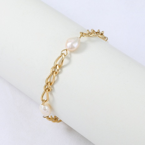 Nihaojewelry fashion stainless steel pearl bracelet Wholesale jewelry NHYUN378321's discount tags