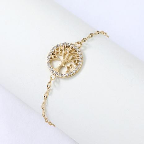Bracelet diamant arbre rond en acier inoxydable Nihaojewelry Bijoux en gros NHYUN378322's discount tags