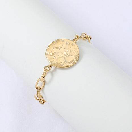 Nihaojewelry simple en acier inoxydable couture étoile lune étiquette bracelet bijoux en gros NHYUN378326's discount tags