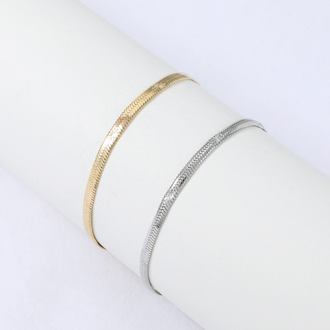 Nihaojewelry style simple large bracelet en acier inoxydable en os de serpent bijoux en gros NHYUN378327's discount tags