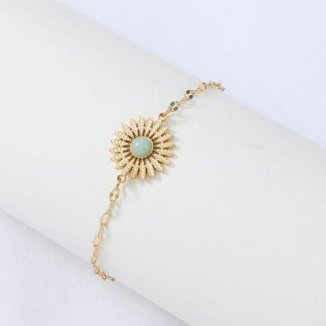 Nihaojewelry simple petite fleur de marguerite bracelet en acier inoxydable bijoux en gros NHYUN378329's discount tags