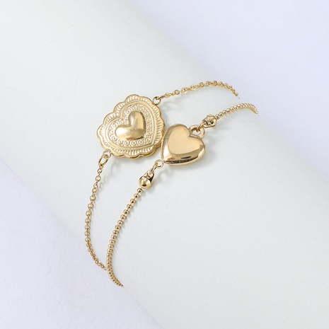 Nihaojewelry pendentif coeur de pêche bracelet en acier inoxydable bijoux en gros NHYUN378330's discount tags