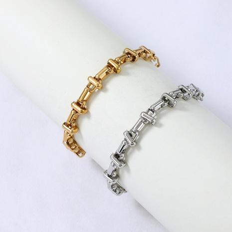 Nihaojewelry chaîne de couture de style hip-hop bracelet en acier inoxydable bijoux en gros NHYUN378331's discount tags