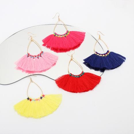 nihaojewelry retro geometric water drop tassel earrings wholesale jewelry NHRN378397's discount tags
