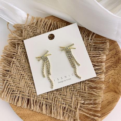 nihaojewelry moda diamantes de imitación cruz borla pendientes joyería al por mayor NHMS378433's discount tags
