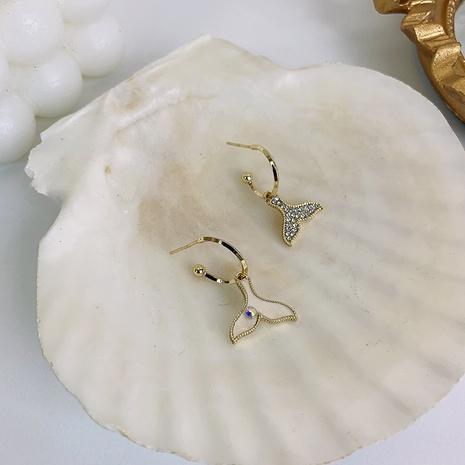 nihaojewelry Pendientes de cola de pez de diamantes de imitación coreanos joyería al por mayor NHMS378438's discount tags