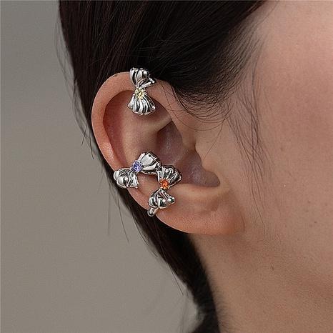 Nihaojewelry simple kowknot strass oreille os clip bijoux en gros NHMS378444's discount tags
