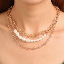nihaojewelry baroque freshwater pearl multilayer irregular necklace wholesale jewelry NHMO378546
