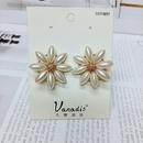 Nihaojewelry jewelry wholesale Korean daisy flower large stud earrings  NHVA378575