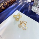 Nihaojewelry jewelry wholesale pearl fivestar heart bow stud earrings  NHVA378595