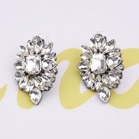 Pendientes cristalinos geométricos del diamante colorido de la aleación al por mayor de la joyería de Nihaojewelry NHVA378605's discount tags