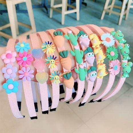 wholesale jewelry cute fruit flower resin children's headband Nihaojewelry NHWB378811's discount tags