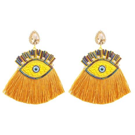 nihaojewelry bohemian color diamond eye tassel earrings wholesale jewelry NHMD378826's discount tags