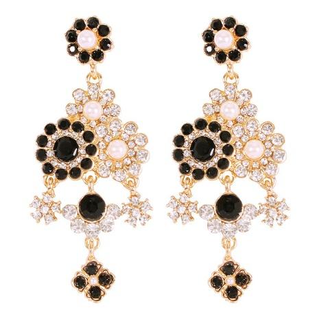 nihaojewelry retro perla tachonada de diamantes pendientes largos pendientes joyería al por mayor NHMD378828's discount tags