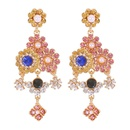 nihaojewelry retro diamondstudded pearl long pendant earrings wholesale jewelry NHMD378828