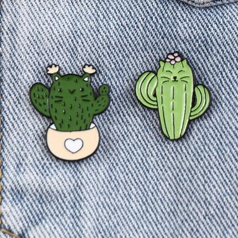 Nihaojewelry Simple caricatura cactus planta en maceta forma broche joyería al por mayor NHNZ378854's discount tags