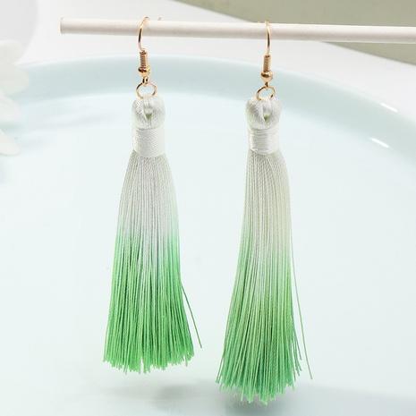 Nihaojewelry jewelry wholesale Bohemian ethnic style gradient tassel earrings NHNZ378870's discount tags