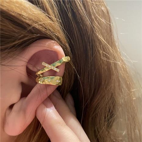 vente en gros bijoux rétro star clip d'oreille micro-incrusté Nihaojewelry NHYQ378893's discount tags
