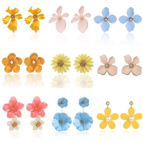Pendientes largos creativos de la pequeña flor de la moda al por mayor de la joyería de Nihaojewelry NHPF378900's discount tags