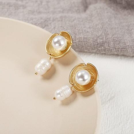 Nhaojewelry Fashion Irregular Circle Pearl Pendant Earrings Wholesale Jewelry NHPF378902's discount tags