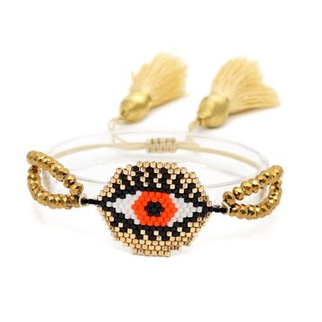 Nihaojewelry estilo étnico miyuki bead evil eye pulsera tejida joyería al por mayor NHGW378911's discount tags