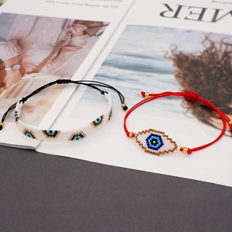 Nihaojewelry simple Miyuki beads hand-woven lucky eyes bracelet Wholesale jewelry NHGW378914's discount tags