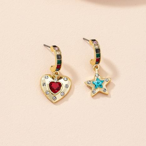 nihaojewelry simple moda corazón estrella pendientes joyería al por mayor NHAI378967's discount tags