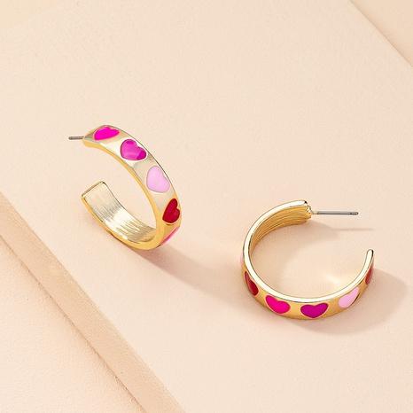 nihaojewelry moda simple patrón de corazón geométrico pendientes joyería al por mayor NHAI378972's discount tags