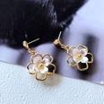 NHOM1751652-Small-Flower-Pendant-Silver-Needle-Earrings-32CM