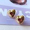 NHOM1751886-Love-Silver-Needle-Stud-Earrings-2.4CM