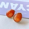 NHOM1751887-Water-drop-resin-silver-needle-earrings-2.52CM