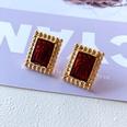 NHOM1751888-Rectangular-red--silver-pin-earrings-2.21.8CM