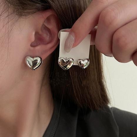 nihaojewelry fashion heart shape stud earrings wholesale jewelry NHMS378432's discount tags